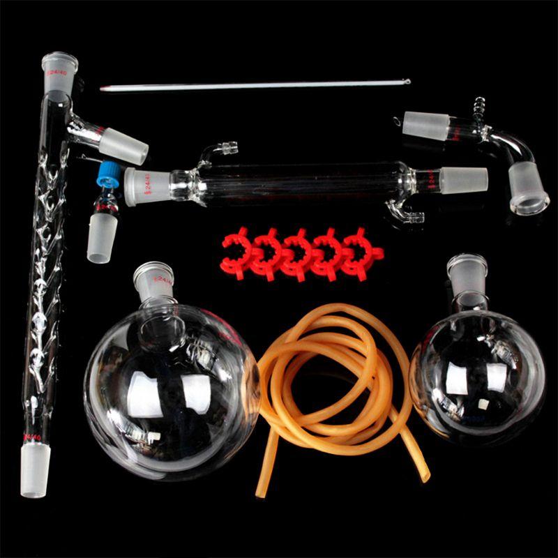 1000ml Organic Chemistry Laboratory Glassware Kit Lab Chemical Device PXPA