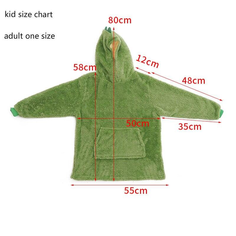 Adult Sofa Cozy Super Soft Warm Blanket with Sleeves Wearable TV Blanket Hoodie Plaid Blankets Hoodie Oversized Sweatshirt-5