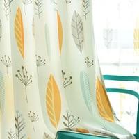 Nordic Baumwolle-Bettwäsche Blackout Vorhänge Für Wohnzimmer Schlafzimmer Küche Fenster Behandlungen Tüll Vorhänge Schatten Rate 70-75%