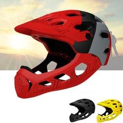 Sportowy rower terenowy kask odpinany Pro pełna twarz rowerowy kask rowerowy z ochroną podbródka