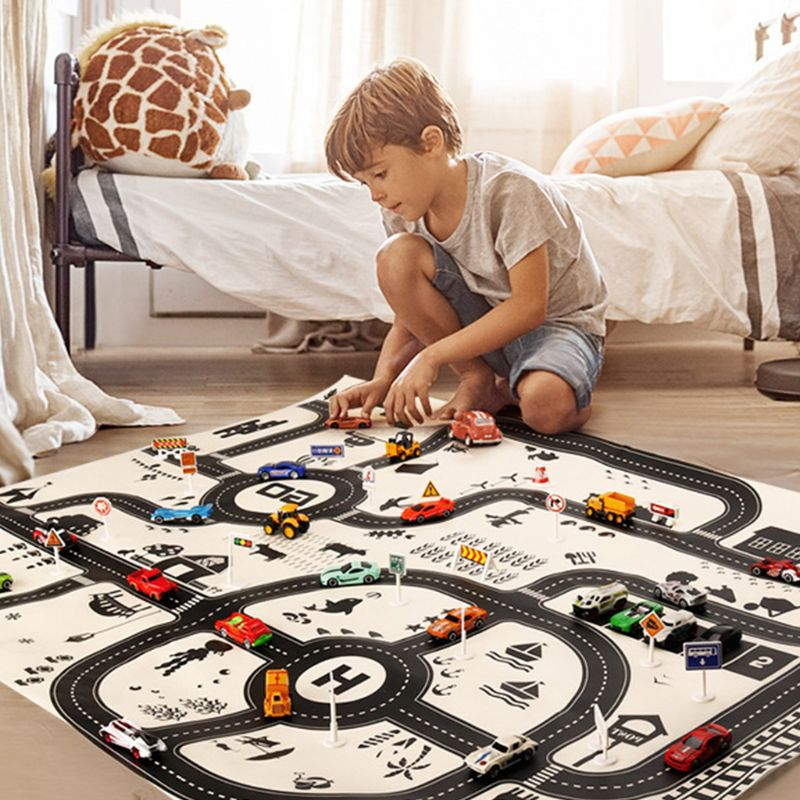 Fashion Simulated Parking Lot View Traffic Map Pad Children Toy Car Game Mat