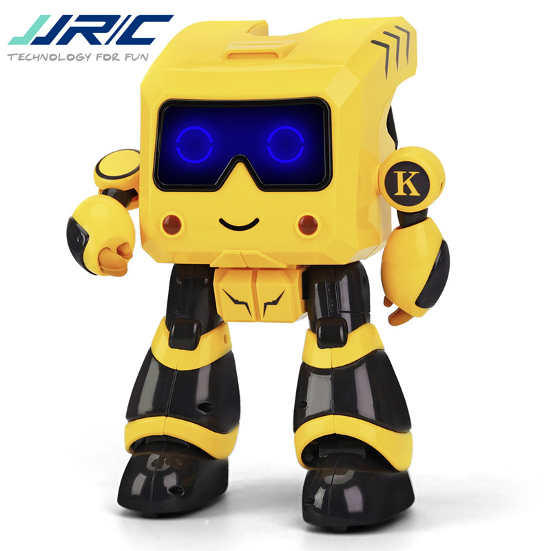 JJRC R17 KAQI-TOTO Yellow Intelligent Programmable Touch Control Coin Saving Sing Dance Smart RC Robot Toy Model for Children