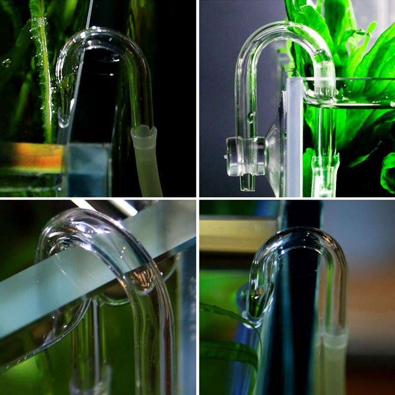 Aquarium Co2 System Diffuser Check Valve U Shaped Glass Tube Bend Accessory DIY
