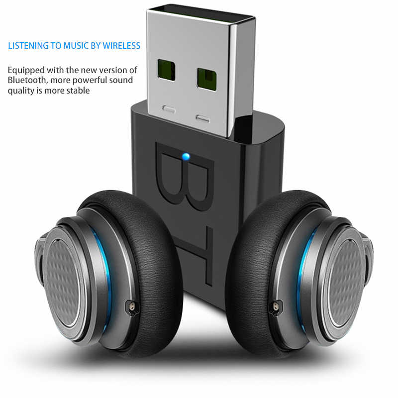 Mini USB Bluetooth 5,0 transmisor recibidor estéreo Bluetooth USB RCA de 3,5mm AUX para PC TV auriculares estéreo HIFI para coche de Audio