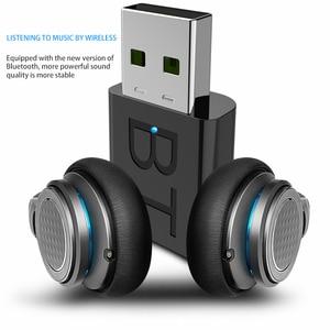 Mini USB Bluetooth 5.0 Transmitter Receiver Stereo Bluetooth RCA USB 3.5mm AUX For TV PC Headphones Home Stereo Car HIFI Audio