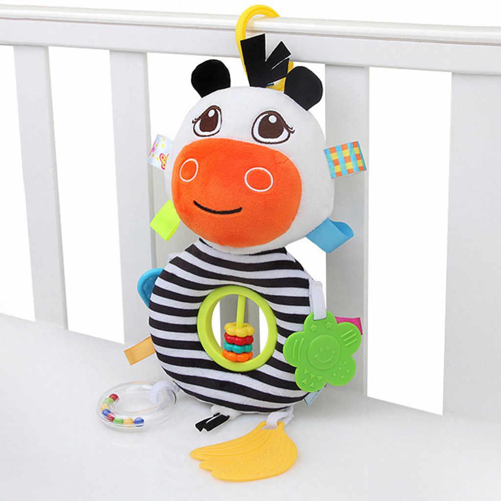 Spielzeug für Beißring Baby Rassel Musik Plüsch Puppe Wagen Hängen Glocke Weiche Krippe Spielzeug Cartoon Bett Spielzeug Schlaf Gut Werkzeug beschwichtigen sal