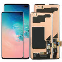 Original S10 LCD para Samsung Galaxy S10 Plus pantalla LCD con marco AMOLED S10 G973F S10 más G975F/DS LCD de reemplazo
