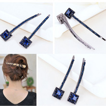 Fashion Crystal Square Rhinestone Hair Barrette Clip Hairpin Women Girl Gift crystal rhinestone butterfly barrette gentle hair clip hairpin gift fashion women girls