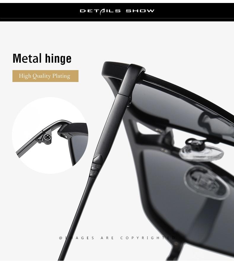 Classic Pilot Polarized Sunglasses Men Coating Mirror Sport Retro Sun Glasses Men Ride Travel Driving Fishing Eyewear Male UV400 (4)