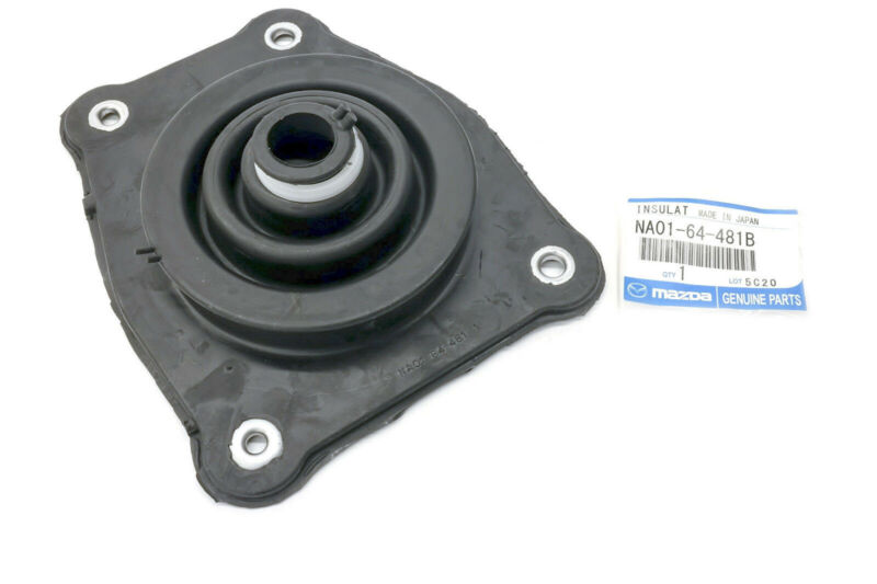 FOR 1990 2005 Mazda Miata Shifter Boot Seal Rubber Gear Insulator OEM NEW NA0164481B about black with metal