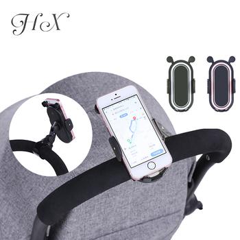 HX 360 stopni obrót akcesoria dla wózków dziecięcych uniwersalny uchwyt regulowany uchwyt stojak na telefon komórkowy czarny biały różowy tanie i dobre opinie Rookoor NYLON Z tworzywa sztucznego Uchwyt na kubek 0-3 M 4-6 M 7-9 M 10-12 M 13-18 M 19-24 M 2-3Y Pink and Black Phone Holder