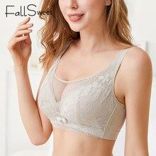 FallSweet tam fincan sütyen kadınlar için ince fincan dantel sutyen örgü tel ücretsiz dantel sütyen Femme
