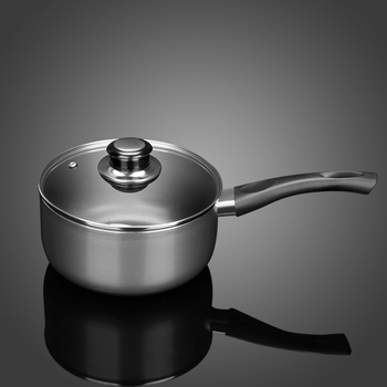 Hot milk small pot baby food household single handle flat-bottomed boiling pan soup noodle rice double-bottomed non-stick cooker