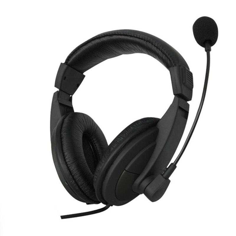 1 шт. новый черный 3,5 мм микрофон Регулируемая головная повязка Проводная стерео гарнитура шумоподавление наушники для компьютера ноутбука настольного компьютера Наушники и гарнитуры      АлиЭкспресс