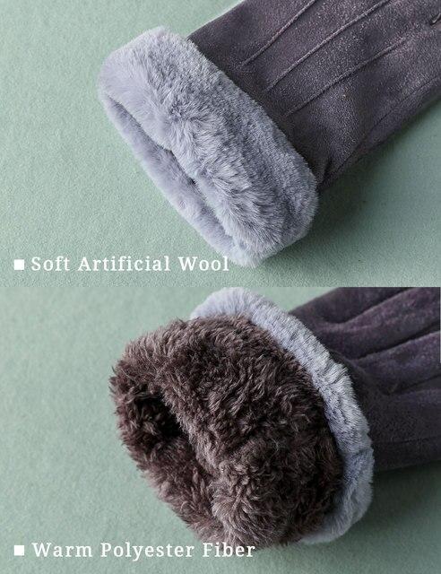 Фото feiqiaosh 2020 зимние женские перчатки с сенсорным экраном серые цена