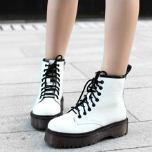 Fashion Women Jason Martins Boots Autumn Winter Motorcycle Ankle Platform