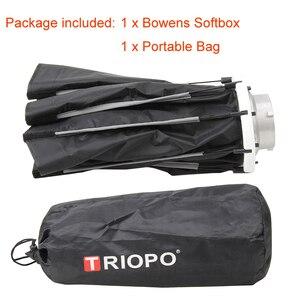 Image 5 - Triopo K65 65cm Portable Bowens Mount octogone extérieur parapluie Softbox pour Photo Studio stroboscope photographie boîte souple lampe vidéo