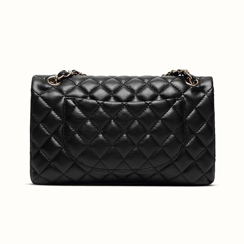 Ladies Genuine Leather Handbag Fashion Casual Chain Shoulder Messenger Bag Famous Classic Wallet Brand Designer Messenger Bag