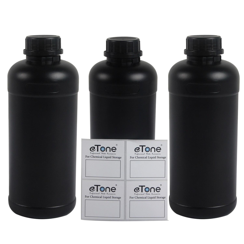 3x1 л, бутылки для химических разработчиков Darkroom, для пленки 135, 120, 4x5, отрицательные