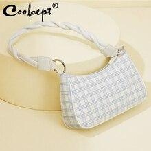 Coolcept Bags For Women Fashion Lady Handbag Soft Leather Ladies Bag Casual Retro Mini Shoulder Bag Pu Lady Handbag Zipper Bag