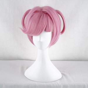 Image 3 - Doki Doki Literature Club Natsuki Pink Short Costume Women Heat Resistant Synthetic Hair Party Cosplay Wigs+Free Wig Cap