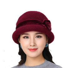 Adult Winter Warm Wear Mother Knitted Caps Elder People Keep Warm Rabb