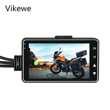 Motorcycle Dual Camera DVR Motor Dash Cam with Special Dual-track Front Rear Recorder Motorbike Electronics Moto Waterproof