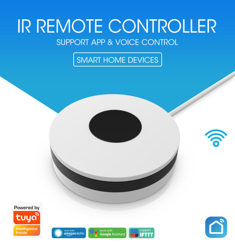 He5a85d645b6445fa9c0e8ab351d52829m - 2020 New NEO Smart Wireless Infrared Universal Remote WiFi IR Remote Support Google Home Universal Smart Remote Controller