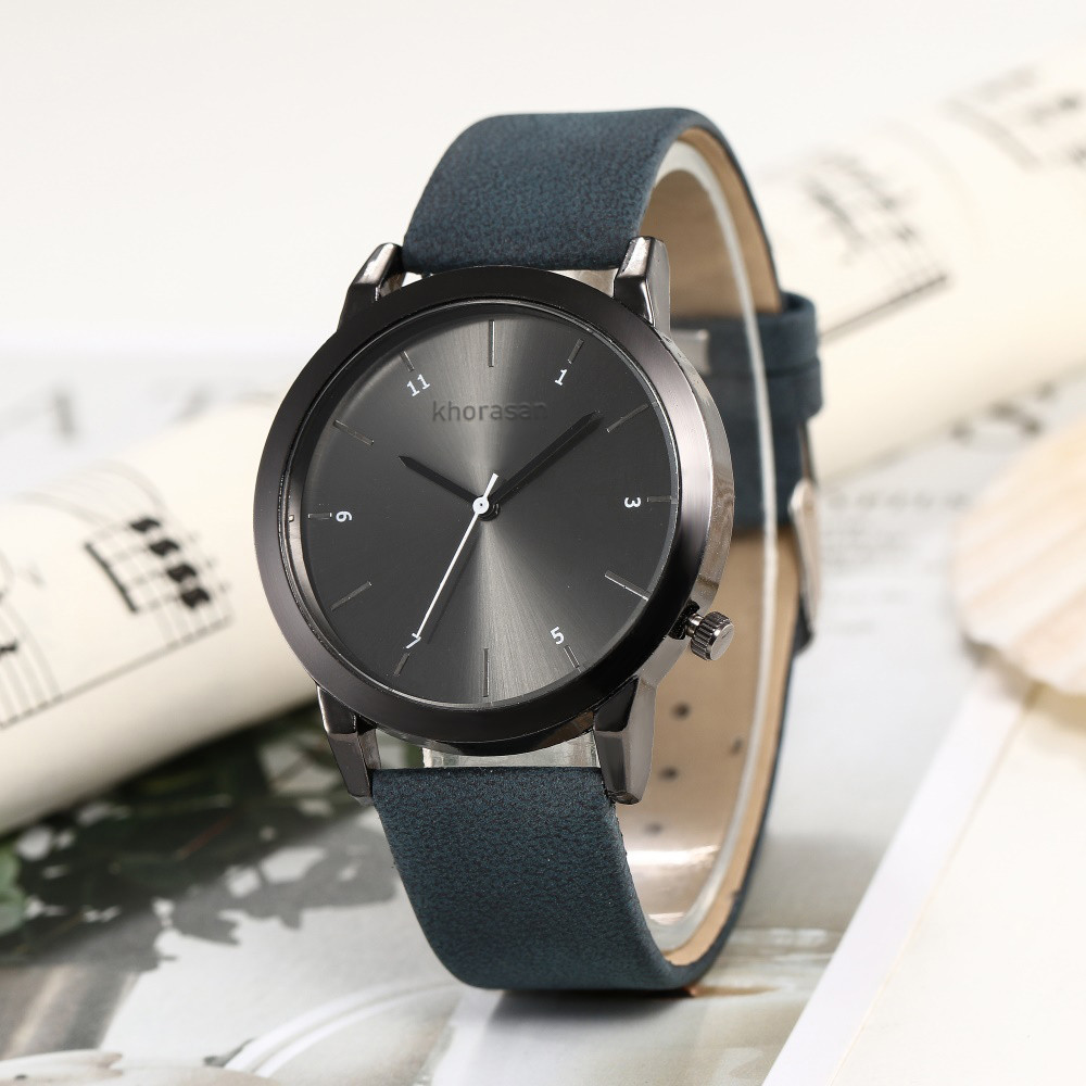 Business Women Watches Black Dial Ladies Simple Quartz Wristwatch Black Leather Strap Clock Work Meeting Zegarki Damskie@50