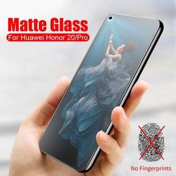 Vidrio Templado esmerilado mate para Huawei Honor 20 Protector de pantalla Anti huellas dactilares Honor 20 Pro YAL-L21 película protectora de YAL-L41