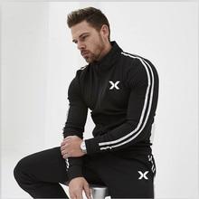 2019 Brand New Men Sets Fashion Autumn Spring Sporting Suit Sweatshirt +Sweatpants Mens Clothing 2 Pieces Slim Tracksuit