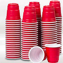Disposable Cup Wedding-Supplies Juice-Cups Plastic Cold-Drinks Mini Wine Red 50pcs