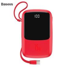 Baseus 10000mAh повербанк 15W внешний аккумулятор зарядное устройство для телефона 4 выхода и 2 входа цифровой дисплей power bank аккумулятор для iPhone samsung huawei