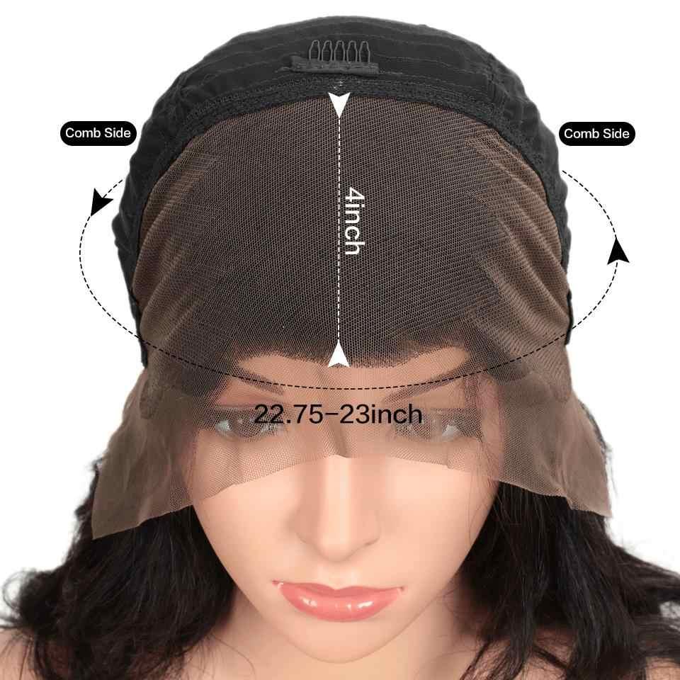 Joedir 30 Zoll Gerade Spitze Vorne Menschenhaar Perücken Pre Gezupft 13X4 Spitze Frontal Perücke Brasilianische Remy Humain Haar Perücken für Frauen