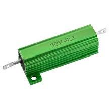 Монтируемый на шасси алюминиевый корпус 50 Вт 4K Ом мощный проволочный резистор
