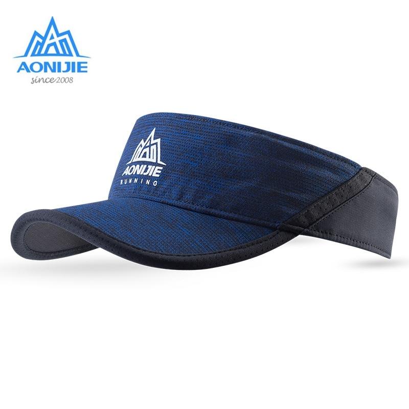 Aonijie козырек беговые кепки анти УФ спортивные шляпы с регулируемым ремешком быстросохнущие для улицы езды на велосипеде марафона бега E4080