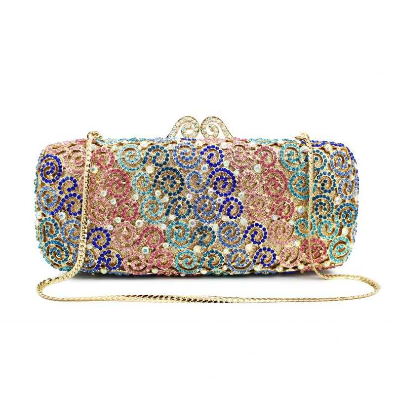 Luxury Long European Evening Clutch Lady American Style Messenger Bag Personality Clutch Wallet