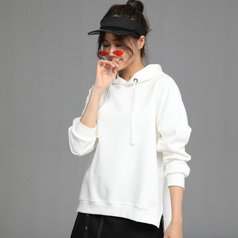 2020 New Hot Sale Ladies Hoodies for Women Fleece Female Winter Solid Colour Casual Sweatshirt 2