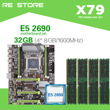 Комплект материнской платы Kllisre X79 с Xeon E5 2690 C2 4x8 ГБ = 32 Гб 1600 МГц DDR3 память ECC REG ATX USB3.0 SATA3 PCI E NVME M.2 SSD