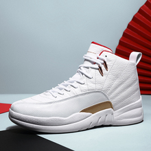 цена на High-top Basketball Shoes men Shockproof Fitness Athletic Shoes men Breathable Antiskid Sneakers Light Basketball