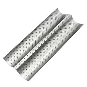 Bread-Baking-Tray Perforated Bake-Pan Carbon-Steel-Mold Grooves-Wave Non-Stick Baguette