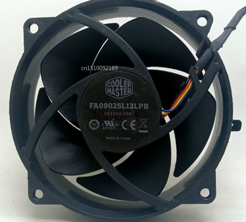 Free Shipping FA09025L12LPB 9225 Intelligent Temperature Controlled Mute Fan 9CM Computer CPU Cabinet Cooling Fan