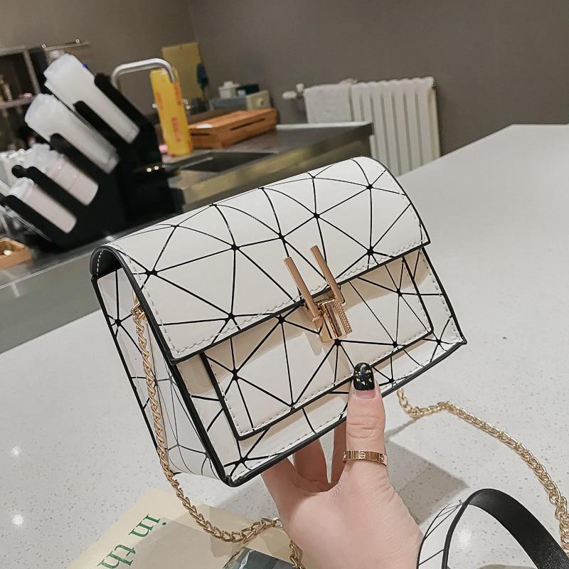 Luxury Handbags Women Bags Designer Messenger Bag Handbag Chain Wild Crack Printing Wild Ladies Shoulder Bag Purse Bolso Mujer
