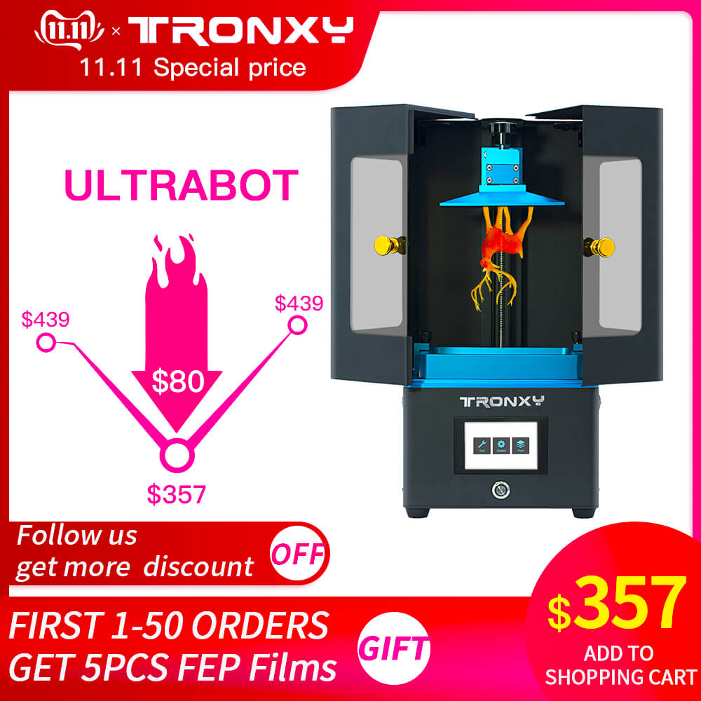 Tronxy ultrabot 3D Printer Kit Touch LCD Screen UV-LED Ultimate Slice Speed Plus Size Desktop SLA 3d Uv Resin Drucker