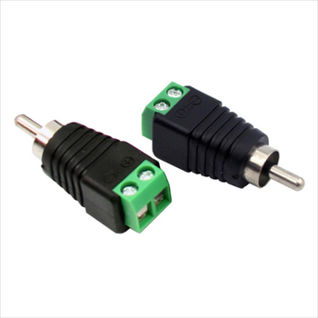 10 Pcs AV Head RCA Adapter High Quality Speaker Cable To Audio Male RCA Connector Adapter Jack Professional Plug Male Connector high quality low attenuation tnc female jack connector switch bnc male plug connector rg142 50cm 20 adapter