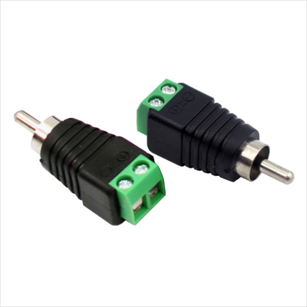 10 Pcs AV Head RCA Adapter High Quality Speaker Cable To Audio Male RCA Connector Adapter Jack Professional Plug Male Connector