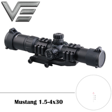 Vector Optics 4-12x40 Tactical Rifle Scope w/ Rings Illuminated Mildot Reticle цена