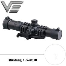 Vector Optics Mustang 1.5-4x30 Hunting Long Eye Relief Rifle Scope Chevron Retic