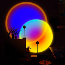 The Sunset Project Lamp Led Night Light USB Projection Rainbow Sunset Red Halo Lamp for Bedroom Glow Party Wall Decor Lighting