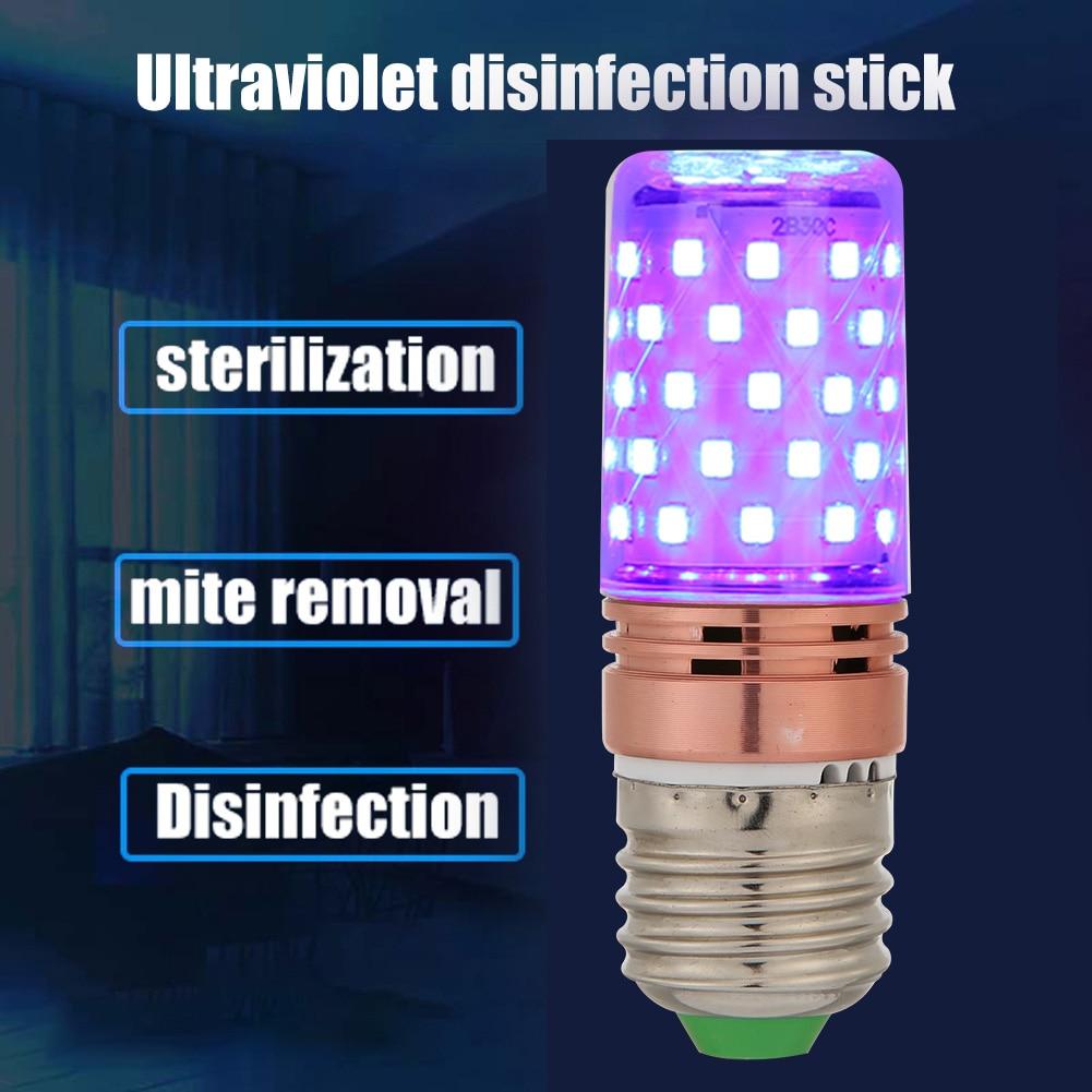 E27 60 LED UVC Germicidal Corn Lamp UV Sterilizer Light Bulb Kill Dust Bacteria Ultraviolet Disinfection Sterilization Lamp
